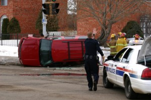 car-accident-car-flipped
