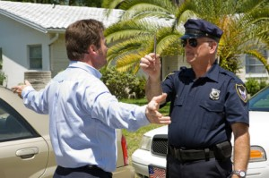 Drunk Driver Takes Sobriety Test